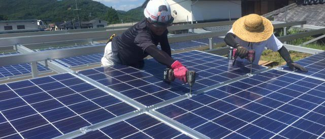 ソーラーパネルの取付②