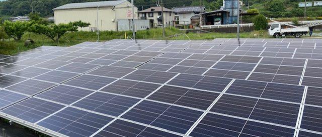 ソーラーパネル設置完成